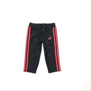 Girls Adidas 3-Stripes Cropped Tights